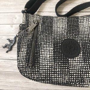 Kipling Tash Front Zip Mini Shoulder Bag Dottie
